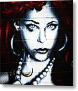 Dotty Diva Metal Print