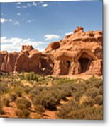 Double Arch Famous Landmark In Arches National Park Utah Metal Print