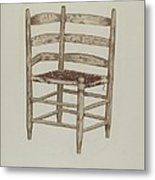 Double Back Chair Metal Print