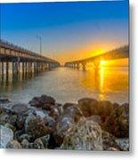 Double Bridge Sunrise - Tampa, Florida Metal Print