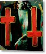 Double Cross La Femme Metal Print