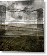 Double Exposure Landscape Metal Print