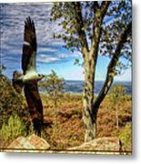 Double Exposure Osprey And High Point Nj Metal Print
