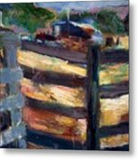 Double Fenced Corral Metal Print
