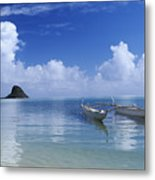 Double Hull Canoe Metal Print by Joss - Printscapes