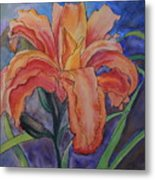Double Lily Metal Print