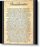 Double Matted Fossilized Desiderata Metal Print