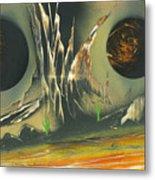 Double Moon Desert Metal Print