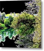 Double Moon Metal Print