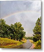 Double Rainbow At Devils Tower Metal Print