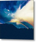Double Rainbow Over Provo, United States Metal Print