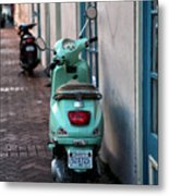 Double Scooters Metal Print