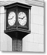 Double Time Black And White Metal Print