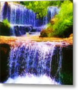 Double Waterfall Metal Print