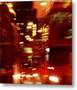 Doubledecker Bus Blur London Metal Print