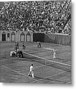 Doubles Tennis At Forest Hills Metal Print