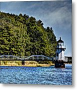 Doubling Point Lighthouse Metal Print