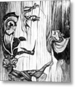 Doubly reversible portrait of Salvador Dali Metal Print