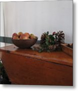 Dough Box Table At Christmas Metal Print