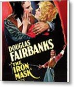 Douglas Fairbanks In The Iron Mask 1929 Metal Print