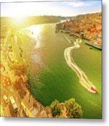 Douro River At Sunset Metal Print