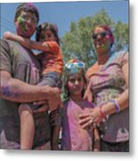 Doused With Color Metal Print