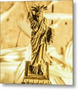 Dove Feathers And American Landmarks Metal Print