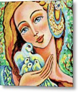 Dove Forest Fairy Metal Print