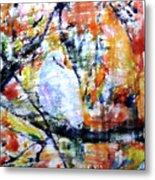 Dove On The Yellow Tree Metal Print