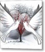 Doves Of Peace Metal Print
