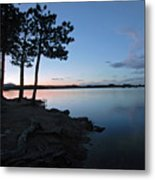 Dowdy Lake Silhouette Metal Print by James Steele