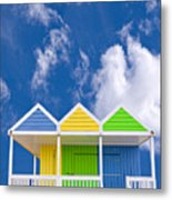 Down At The Beach Metal Print