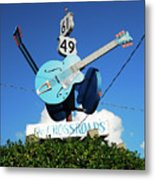 Down At The Crossroads Metal Print