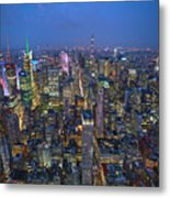 Down In The City  Metal Print