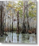 Down On The Bayou - Digital Painting Metal Print by Carol Groenen