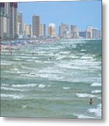 Down The Beach Metal Print