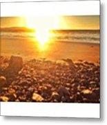 Down The Beach #beach Metal Print