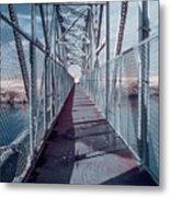 Down The Bridge Metal Print