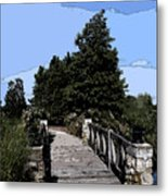 Down The Bridge Metal Print