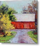 Down The County Road Metal Print