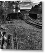 Down The Rail Metal Print