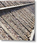Down The Railroad Metal Print