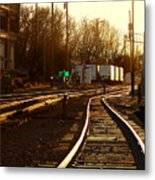Down The Right Track 2 Metal Print