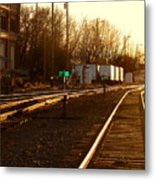 Down the Right Track Metal Print