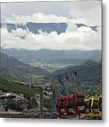 Down The Valley At Snowmass Metal Print