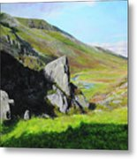 Down The Valley Metal Print
