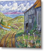 Down To The Fjord Metal Print