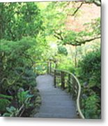 Down To The Garden Metal Print