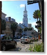 Down Town Charleston Metal Print