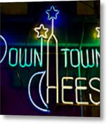 Down Town Cheese Metal Print